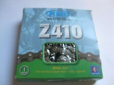 """KMC Bicycle Chain # Z410 Fixed Gear 1/8"""" Single Speed BMX Cruiser Silver NOS"""