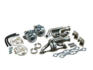 Twin Turbo LT1 SBC Kit FOR GMC Chevy Blazer Tahoe 305 350 5.7L Silverado Sierra