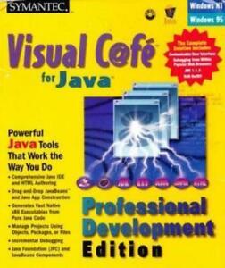 Visual Cafe 2.5 Professional Development + Manual PC CD create Java applications