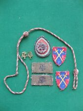 More details for ww2  ats. cloth and metal insignia,  100% original.  auxillery transport service
