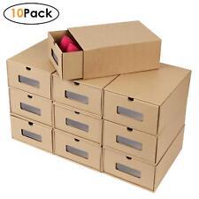 10X Aufbewahrungsbox Schuhschrank Schuhkarton Schuhregal Stapel Schuhbox Faltbar