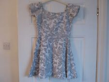Motel Rocks grey paisley style print dress, size S, est 8-10, exc condition