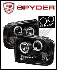 Spyder Ford F250/350/450 Super Duty 05-07 Projector Headlights LED Halo- LED Blk