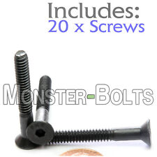 "#10-24 x 1-1/2"" - Qty 20 - FLAT HEAD Socket Cap Screws - Alloy Steel Black Oxide"