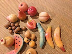 Alabaster Stone Fruit Italian Marble Apple Peach Banana Watermelon Plum