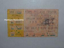 Van Halen 1979 Concert Ticket Stub Miami Fl Jai-Alai Fronton David Lee Roth Rare