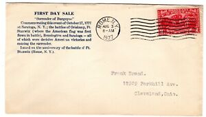 #644 Burgoyne 1927 First Day Cover  - Unlisted Rome NY