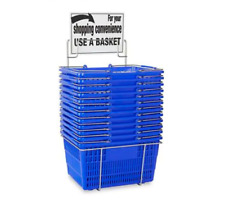 Plastic Hand-Held Shopping Baskets with Rack