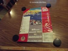 May 1991 Formula 1 F1 Racing Poster De Monaco Grand Prix Ayrton Senna Winner