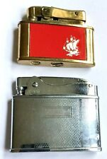 VINTAGE SET OF 2 FUEL LIGHTERS ~ CONTINENTAL THINLITE & EMPIRE SPECIAL AUTOMATIC