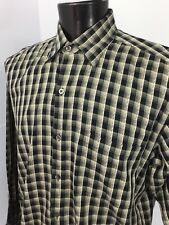 Minos Mens Shirt Size Large Multicolor Long Sleeve Button Front  100% Cotton S1b
