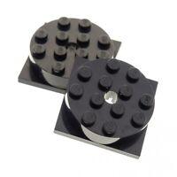 4x Lego Round Stone Black 4x4 Turntable Disc Turntable 3403c01