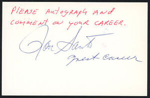 Ron Santo Autographed Signed 3.5x5.5 Government Postcard Chicago Cubs 153938