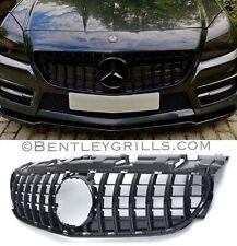 JNSMQC Griglia anteriore./Per Benz Classe SLK R172 SLK250 SLK200 SLK350 SLK55 2012-2016 Griglia da corsa stile ABS nero cromato GT