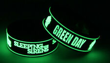 SLEEPING WITH SIRENS GREEN DAY S8G7 NEW! 2x Bracelet Wristband Glow in the Dark