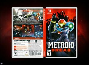 Metroid Dread Cover Art: Replacement Insert & Case for Nintendo Switch