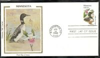 US SC # 1975 State Birds And Flowers ( Minnesota ) FDC. Colorano Cachet .