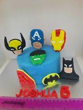 Superheroes set 7 pieces Edible Personalised Cake Topper
