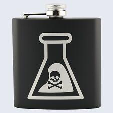 DANGER WARNING POTION DEADLY Design, Stainless Steel 6oz Hip Flask
