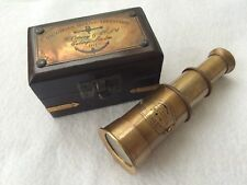 Brass Victorian Telescope With Box Antique Finish Maritime  Nautical Spyglass