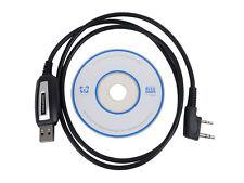 2 Pins USB Programing Cable Program Software CD for Baofeng UV-5R BF-888S Radios