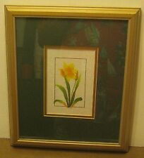 Lovely DAFFODIL Watercolor on Rice Paper Collage by C. CHERDCHUEN Excellent! NR!