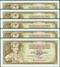 TWN - YUGOSLAVIA 87b - 10 D. 4/11/1981 UNC BG Dealers x 5