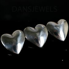 Straight Sterling Silver Pin or Pendant Vintage Old Pawn Mexican Taxco Hearts