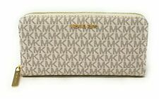 Jet Set Viaje Michael Kors XL ZIP AROUND cartera de PVC Cuero Signature