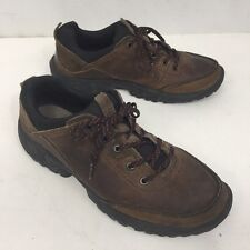 TIMBERLAND Men's Brown Leather Lace Up Casual Oxfords Hiking Shoes US 11