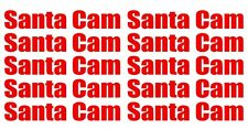 10 x Santa Cam Stickers Decals Make your Own Santa Cam For Christmas