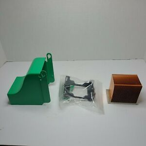 Dell Dimension 3000 cpu heat sink, heat sink hold down bracket, and vent to fan