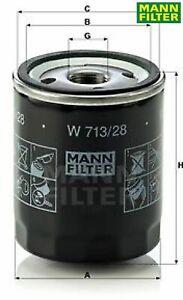 MANN-FILTER W713/28 Ölfilter Motorölfilter