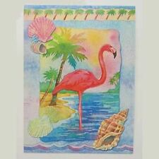 Pink Flamingo Greeting Card BKG13203