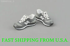"1/6 Men Shoes Sneakers GRAY For 12"" Phicen Hot Toys Custom Male Figure ❶USA❶"