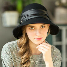 Fashion Wide Brim Elegant Wool Felt Hat Women Fedora Lady Hat Jazz Hats Sombrero