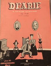 Dearie Bob Hilliard Dave Mann Copacabana Sheet Music 1950 Laurel Music
