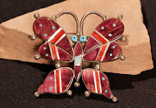 Navajo Butterfly Pin with Purple Spondylus 2 1/2""