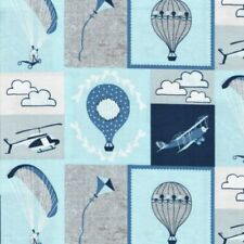 HEAD in the CLOUDS Fabric Fat Quarter Cotton Craft Quilting Plane Kite Balloon
