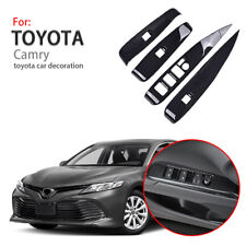 For 2018-19 Toyota Camry Window Lift Switch Button Cover Carbon Fiber Style Trim