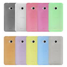 COVER PER HTC ONE M7 ULTRA SLIM 0.3MM CUSTODIA PROTEZIONE THIN FROSTED COLORATA
