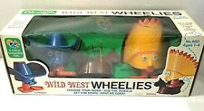 WILD WEST WHEELIES COWBOY AND INDIAN A CHILD GUIDANCE TOY IN PACKAGE NIP UNUSED