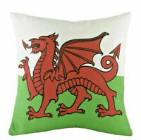 Evans Lichfield Printed Wales Red Dragon Flag Cushion Cover 18""