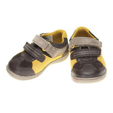 NEW CLARKS BOYS FIRST SHOES RU ROCKS FST BROWN LEATHER SHOE UK SIZE 5.5G