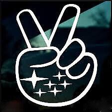 Subaru Peace Sign