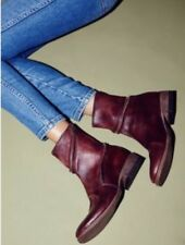 23194bc08258 NEW Free People FarylRobin Essential Zipper Ankle Boots Size 8 Red Leather