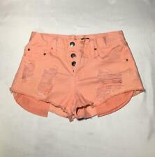 Forever 21 Size 24 Waist Distressed Shorts Pink Peach
