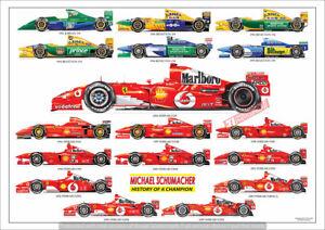 Michael Schumacher ltd.ed.art print - history of F1