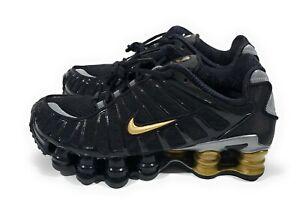 Nike Neymar Jr Shox TL Mens Running Shoes Black Metallic Gold Size 4.5 Womens 6