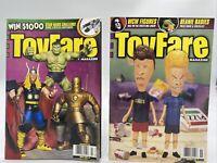 Lot Of 2 ToyFare Magazines - #15 (Nov 1998) & #19 (Mar 1999) Marvel Butt Head
